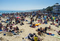 Bournemouth beach in july during a prolonged period of fine weather in the united kingdom Royalty Free Stock Photos