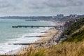 Bournemouth england panorama at beach Royalty Free Stock Photo