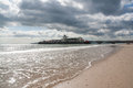 Bournemouth pier dorset beach and at england uk Stock Photos