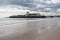 Bournemouth pier dorset beach and at england uk Royalty Free Stock Photo