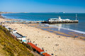 Bournemouth pier dorset overlooking beach and england uk europe Royalty Free Stock Images