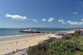 Bournemouth pier dorset shelter on Royalty Free Stock Photo