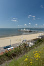 Bournemouth Pier and promenade in Dorset Royalty Free Stock Photo