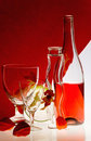Bouteille de vin rouge Photo stock