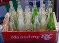 Bouteilles de soda de cru Photo libre de droits