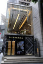 Boutique de Burberry Photos libres de droits