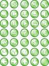 Bouton de Web et d'Internet Photos libres de droits