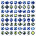 Boutons bleus de Web de lLetter Photo stock