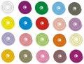 Boutons de Spiraly Photos libres de droits