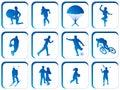 Boutons de sport Image stock
