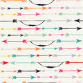 Bow and arrow indian boho seamless pattern hipster