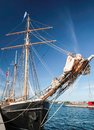 Bow of a big old sailing ship Royalty Free Stock Photo