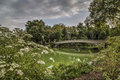Bow bridge in summer Royalty Free Stock Photo