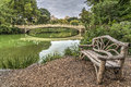 Bow bridge in summer Royalty Free Stock Photo
