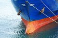 A bow of bulk cargo ship Royalty Free Stock Photo