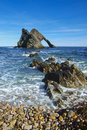 Bow Fiddle Rock, Scotland Royalty Free Stock Image