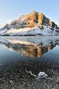 Bow Lake sunrise, Banff National Park Royalty Free Stock Photo