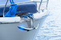 Image : Bow of luxury boat   and