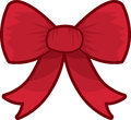 Bow red isolated large for present Royalty Free Stock Photo