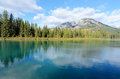 Bow River in Banff Royalty Free Stock Photo