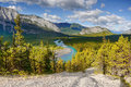 Bow River, Hoodoos, Banff, Canada Royalty Free Stock Photo
