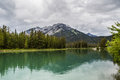 Bow River turquoise water Royalty Free Stock Photo