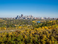 Bow river valley in Calgary Royalty Free Stock Photo