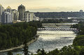 Bow River view Royalty Free Stock Photo