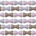 Bow seamless hipster pattern vector set background Royalty Free Stock Image