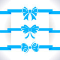 Bow set blue icon illustrations Royalty Free Stock Photos