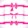Bow set purple icon illustrations Stock Image