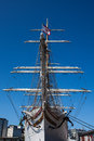 Bow of Statsraad Lehmkuhl sailboat Royalty Free Stock Photo