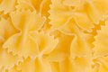Bow tie pasta texture farfalle tipical italian food for background Stock Photo