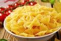 Bow tie pasta Royalty Free Stock Photo