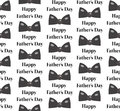 Bow tie seamless patterns. Father s Day holiday concept repeating texture, endless background. Vector illustration