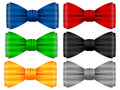 Bow tie set on a white background Stock Photo