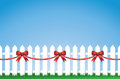 Bow Tied Picket fence Stock Photos