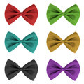 Bow ties in different colours Royalty Free Stock Photo