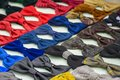Bow ties handmade colorful exposed for sale Stock Images