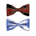 Bow ties over white background vector illustration Stock Photo