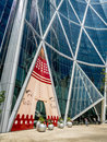 Bow tower during stampede calgary canada july the decorated for the calgary on july in calgary alberta canada here the exterior of Stock Photo