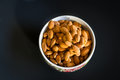 Bowl of Almonds Royalty Free Stock Photo