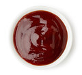 Bowl of barbecue sauce Royalty Free Stock Photo