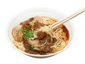 Bowl of beef with rice vermicelli noodle soup bun bo hue vietnamese s cuisine Stock Images