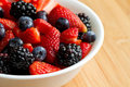 Bowl of berries Royalty Free Stock Photos