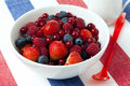 Bowl of berry fruit Royalty Free Stock Photo