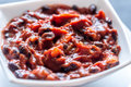 Bowl of black bean chili Royalty Free Stock Photo