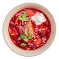 Borscht isolated above Royalty Free Stock Photo