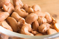 Bowl of cashew nuts Royalty Free Stock Photo