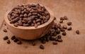 Bowl of cedar nuts